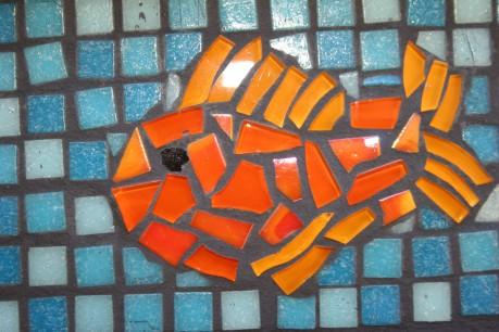 Detail of fish platter