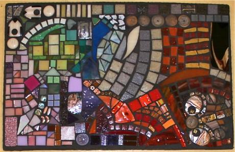 "Fran Kremen 11""x17"" (glass tile and buttons)"