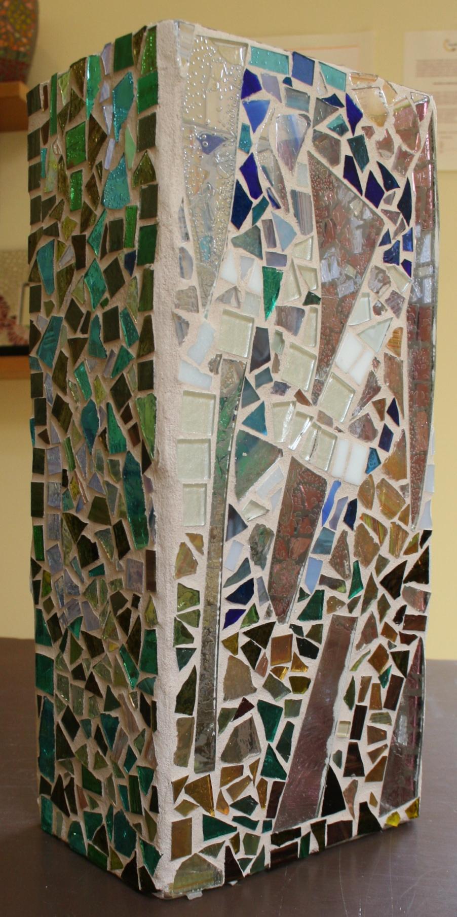 Jacqueline Barnett Glass Vase 2009 Seattle Mosaic Arts