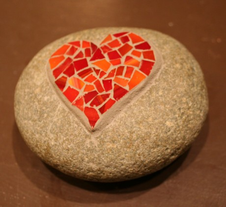 Mosaic on rock