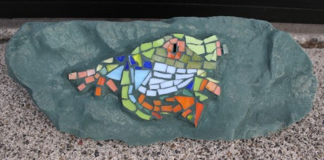 Mosaic on rock